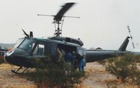 UH-1 landed for a Hot Refuel